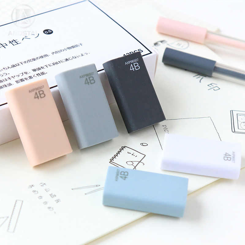 Andstal proste miękkie M & G elastyczne kolor gumka Kawaii gumowe gumki Mini ołówek z gumką guma do szkolne materiały biurowe gumy