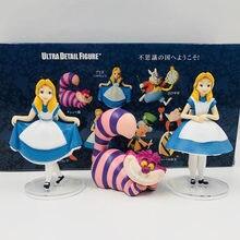 Alice no país das maravilhas princesa cheshire gato figura de ação bonecas brinquedo anime alice kingsleigh menina figuras coleção brinquedo crianças meninas