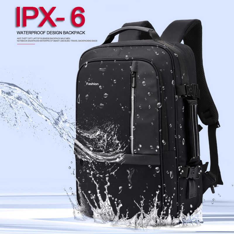 Anti Diebstahl Laptop Rucksack Männer 17 Zoll Rucksäcke Frauen Männlichen 15,6 Notebook Zurück Pack Große Tasche USB Lade Wasserdichte Bagpack