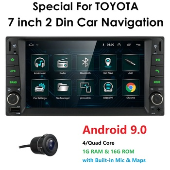 7inch touch screen Android 9 Car radio GPS Radio for Toyota Corolla RAV4 Terios Prado Camry Multimedia SWC FM CAM-IN USB Mic Map image