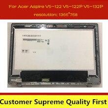 Ordinateur portable LCD Écran Tactile Numériseur Assemblage du Panneau De Verre + Lunette B116XAN03.2 Pour Acer Aspire V5-122P V5-122 v5-132p MS2377