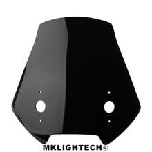 MKLIGHTECH For KAWASAKI VERSYS650 VERSYS 650 2014-2019 Motorcycle Windscreen Wind Deflector Windshield Head Cover Sun visor