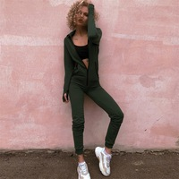 Sport jumpsuit women 2019 Fashion casual Hooded sweater Rompers winter Long sleeve Fitness body for women stretch Jumpsuits