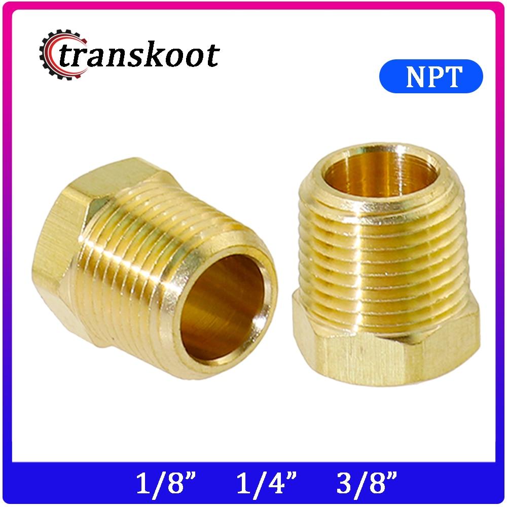 3220 2pcs Brass Hose Fitting Hex Reducer Bushing 1/4