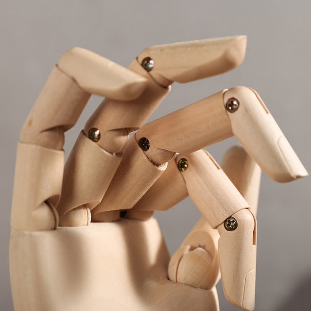 Europe Style Movable Lotus Wood Man Joint Hand Model Creative Sketch Art Children's Intelligence Development Toy Home Decoration 6