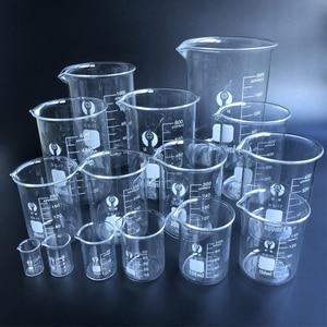 Image 1 - 1 set Laboratory Glass Beaker Borosilicate 3.3 Labotatory Measuring Glass kitchen Cup