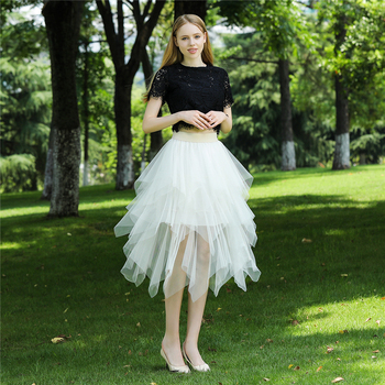 Skirt summer women's irregular tutu skirt wedding banquet tulle skirt temperament office lady skirt fashion tullle skirt фото