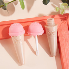 8ml Ice Cream Lip Gloss Empty Tube Containers Jars Diy Makeup Tools Cosmetic Transparent Lip Balm Refillable Bottle