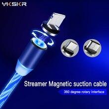 Светодиодный светящийся зарядный кабель для samsung s9 huawei