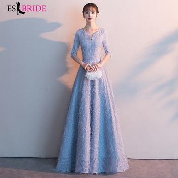 Lace Evening Dresses ES30068 A-Line Elegant Formal Dresses Evening Gowns Abiye Gece Elbisesi