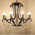 Kronleuchter Moderne Kristall Schwarz Luxus Kronleuchter Lustre Kristall Hotel Kronleuchter Wohnkultur E14 Led leuchten-in Pendelleuchten aus Licht & Beleuchtung bei