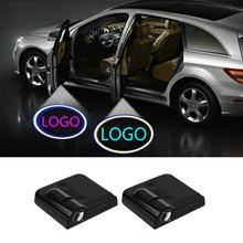 Projecteur LED de porte de voiture avec Logo, lampe ombre, pour citroën C4 C5 C3 C2 C4L C1 C6 DS3 DS4 DS5 DS7 c-elysee C3-XR SUV
