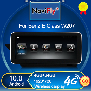 NaviFly Wireless Carplay Android 10 Car Multimedia Player For Mercedes Benz E class C207 W207 A207 Two door Coupe 4GB 64GB 1920 image