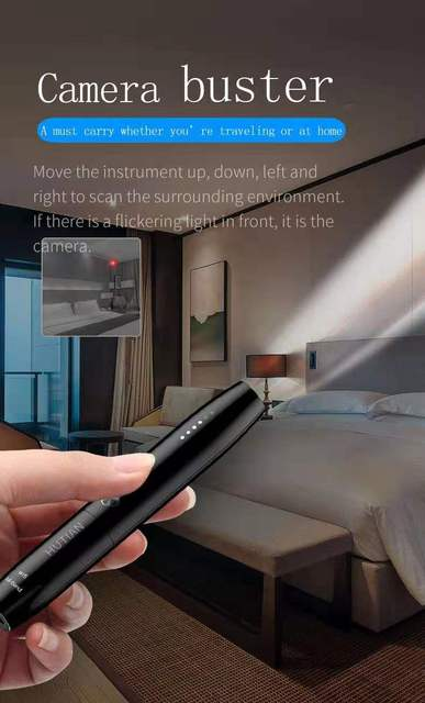 Hidden Cam Pen Anti Spy Camera Detector Bug Gadget Wireless RF Signal Finder Audio GSM Anti GPS Car Tracking Wiretapping Scanner 2