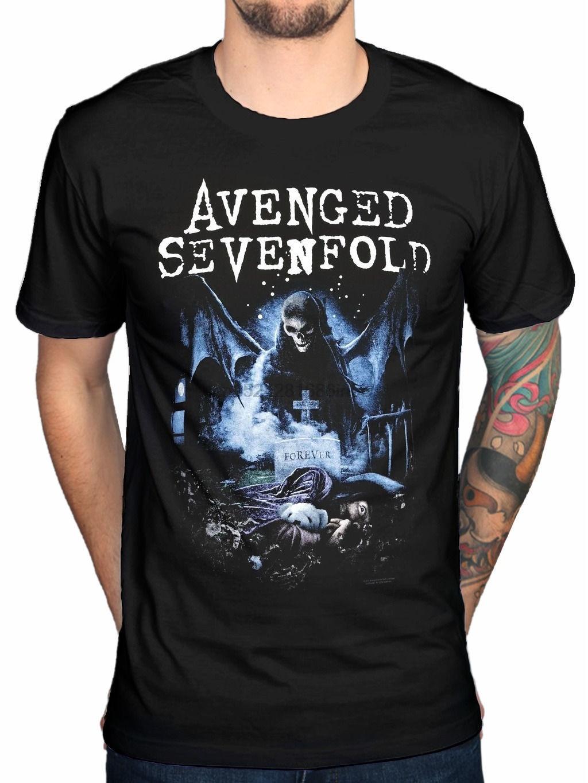 Avenged Sevenfold Orange Splatter Black T Shirt New Official Adult A7X