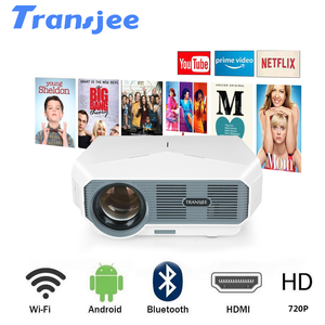 TRANSJEE Мини проектор 4k Android 6,1 (1G + 16G) WIFI телефон проектор светодиодный домашний кинотеатр 3D видео проектор Поддержка 4K 3800 люмен