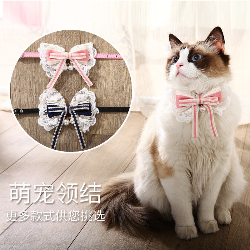 Cat Bow Neck Ring Teddy Small Dogs Pet Tie Pet Accessories Necklace Dog Neck Ring Supplies