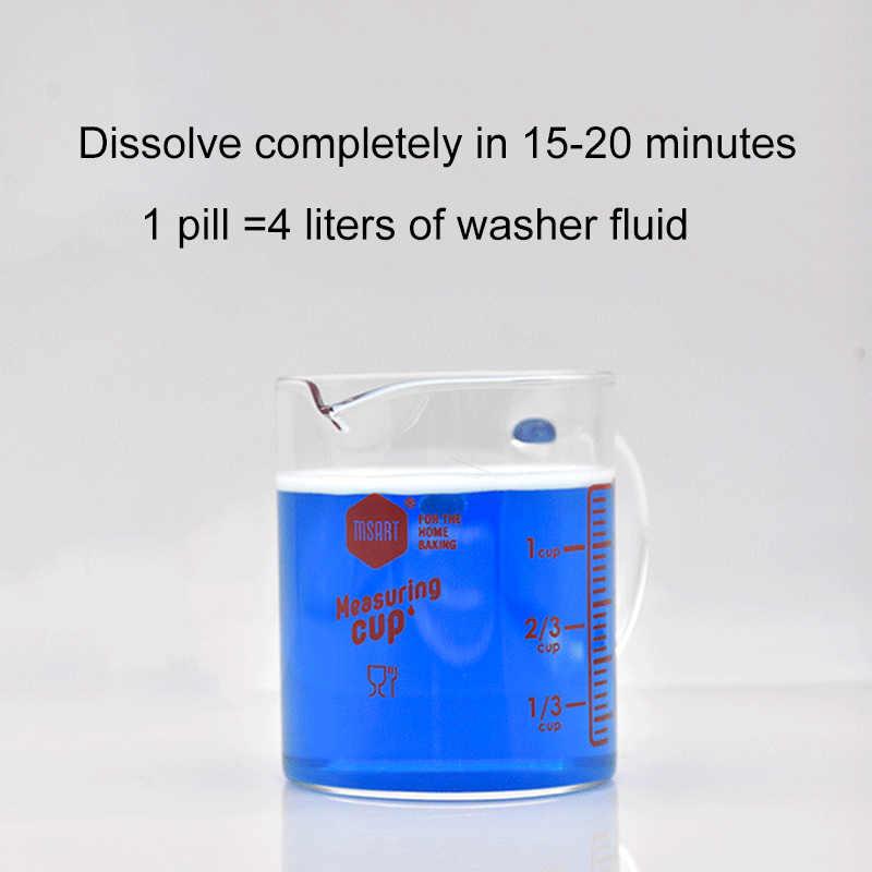 الصلبة غسالة التركيز تشكل زجاج سيارة غسالة السوائل الزجاج نظافة شاشة غسل ممسحة السوائل (6 قطعة/الحزمة)