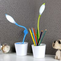 Creative Flower Petal Desk Lamp USB Charging Dimmiable Touch Sensitive Eye Protection LED Lamp Students Study Table Lamp|  -