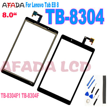 8 For Lenovo Tab E8 8 TB-8304F1 TB-8304F TB-8304 Touch Screen Digitizer Sensor Glass Tablet PC Replacement + Free Tool for texet tm 8044 8 0 3g tablet capacitive touch screen 8 inch pc touch panel digitizer glass mid sensor free shipping