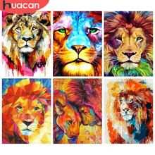 HUACAN 5D Diamond Painting Lion Handicraft Full Square Tiger Diamond Embroidery Mosaic Animal Decor For Home(China)