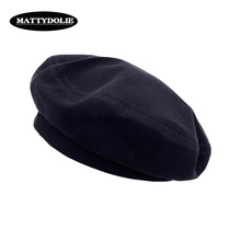 MATTYDOLIE Black Beret Female Autumn And Winter Simple Retro