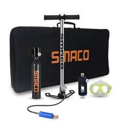 SMACO 500ml Hand Betrieben Mini Scuba Air Tank Inflator Pumpe Tauchen Ausrüstung Lagerung Tasche für Tauchen sauerstoff zylinder