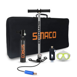 SMACO 500ml Hand Operated Mini Scuba Air Tank Inflator Pump Diving Equipment Storage Bag for Diving oxygen cylinder