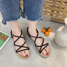 Liren 2019 Summer Casual Beach Slippers Narrow Band Cross-tied Lace-up Comfortable Women Slippers Outside Flat Low Heels Shoes цена 2017