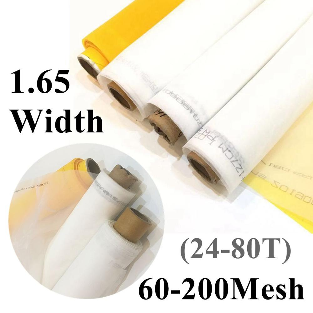 165CM Width 24T/32T/39T/47T/53T/62T/72T/80T Polyester Silkscreen White Silk Screen Printing Mesh Fabric Handwork DIY Filter Net
