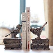 Vintage pájaro de resina americano librería revista antigua libros titular libro Mesa segura almacenamiento hogar Oficina Escritorio de Decoración Accesorios
