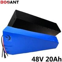 Triângulo 48V 20Ah 1000W bicicleta elétrica da bateria de lítio bateria para LG 48 celular 18650 V 2000W ebike li-ion bateria com caixa de metal