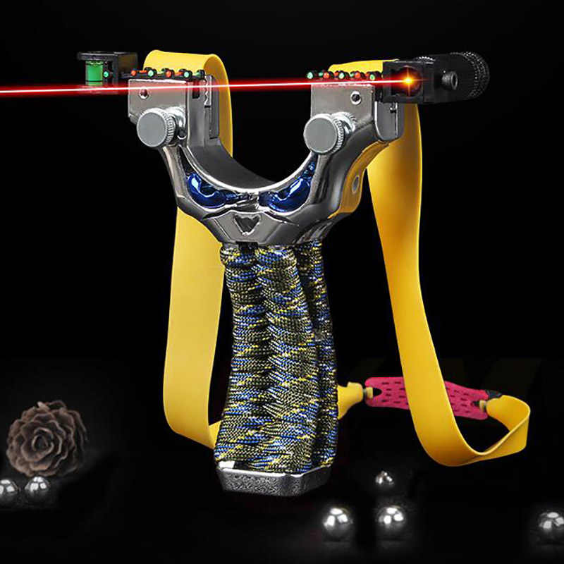 Harz Flache Leder Schleuder Schnelle Druck Freies Gebunden Laser Mit Dem Ziel Schlinge Außen Jagd Schießen Spiel Schleuder