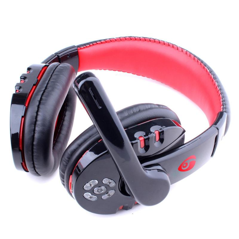 Wireless Gaming Headset For PC Laptop With Microphone Resizable Headphones Button Control 3D Stereo Earphones