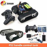 SZDOIT PS2 Gamepad Griff Control T101 Smart RC Roboter Tank Chassis Kit Verfolgt Crawler Fahrzeug 33GB-520 Motor DIY Für Arduino
