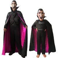 Carnival Party Halloween Adult Count Dracula Gothic Vampire Costume Fantasia Prince Vampire Mavis Cosplay for Mens