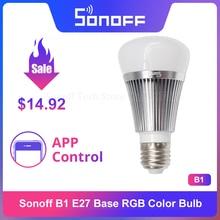 Itead sonoff B1 調光対応led wifiスマートライトE27 電球リモートapp制御を経由してのandriod & ios ewelinkで動作googleホームalexa