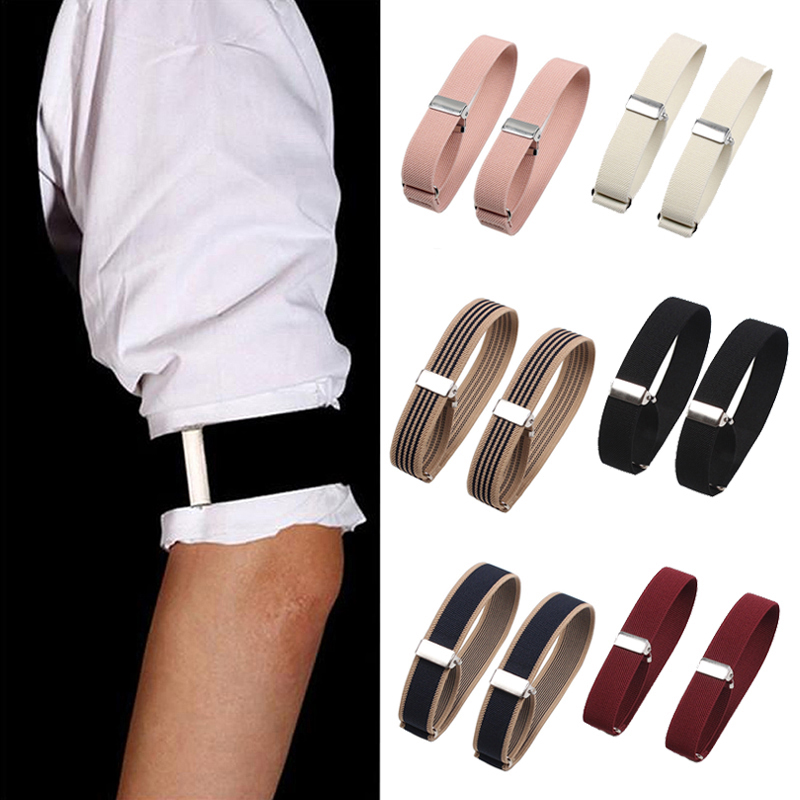 1Pair Elastic Armband Shirt Sleeve Holder Women Men Fashion Adjustable Arm Cuffs Bands For Party Wedding Clothing Accessories