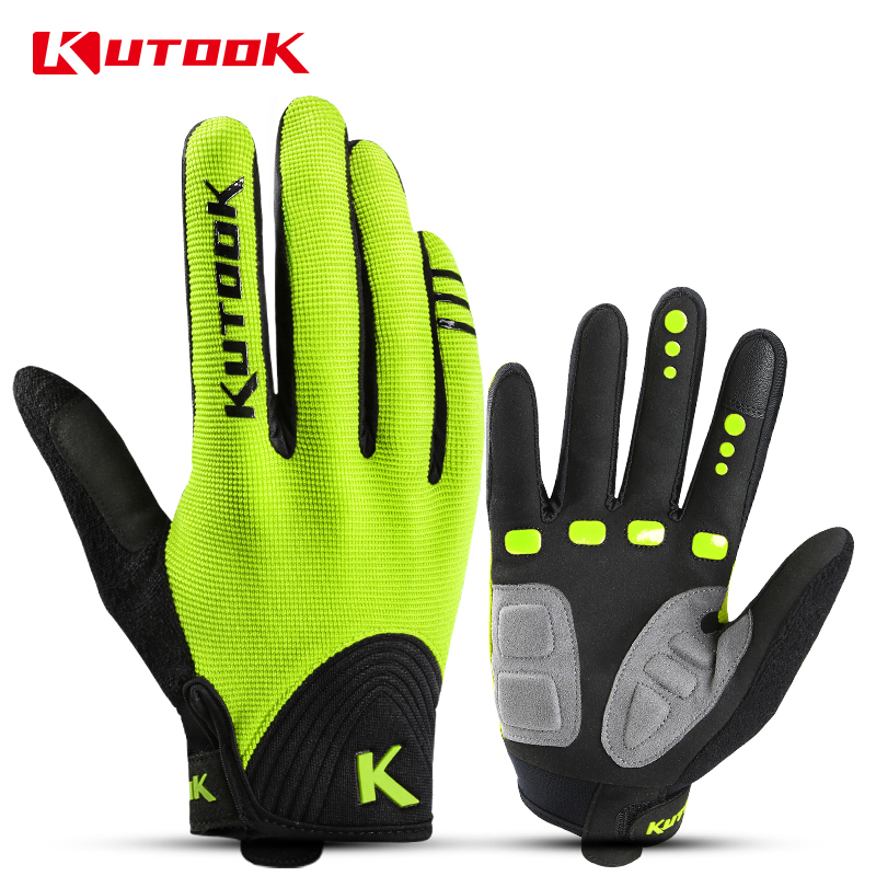KUTOOK 2020 Breathable Cycling Gloves Full Finger Sport Gloves Bicycle Spring Touch Screen Men Women Motorcycle MTB Bike Gloves