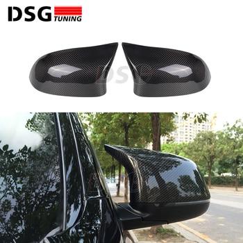 Carbon Fiber Rear View Car Side Mirror Cover for BMW X3 F25 X4 F26 X5 F15 X6 F16 2014+