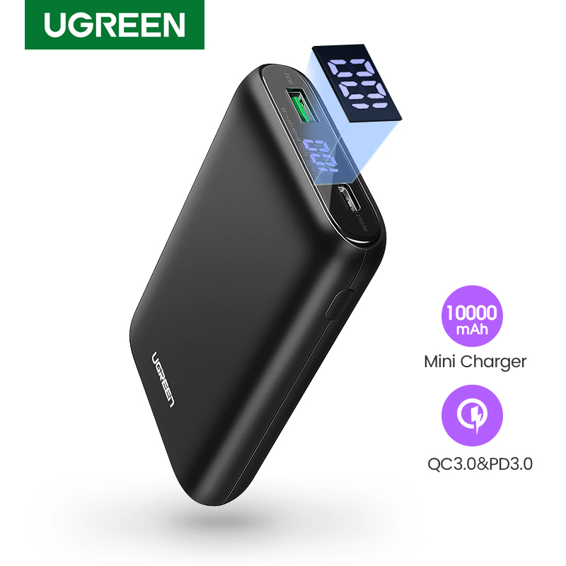Ugreen Power Bank 10000mAh Portable External Battery Charger Quick Charge 4 0 3 0 Poverbank for