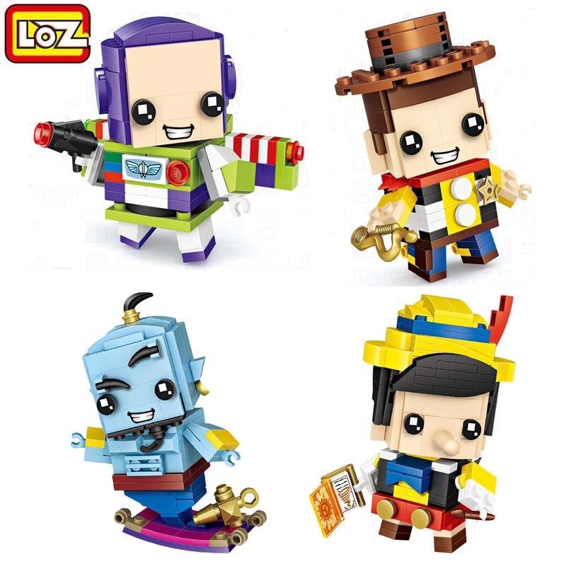 Loz Diamond Building Blocks Aladdin Woody Buzz Anime Figures Brickheadz Cute Doll MOC Bricks DIY Educational Toys for Children