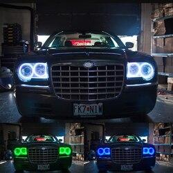 Ультра яркий 5050 SMD многоцветный RGB комплект светодиодов «глаза ангела» с пультом дистанционного управления для Chrysler 300C 2004 2005 2007 2008 2009 2010