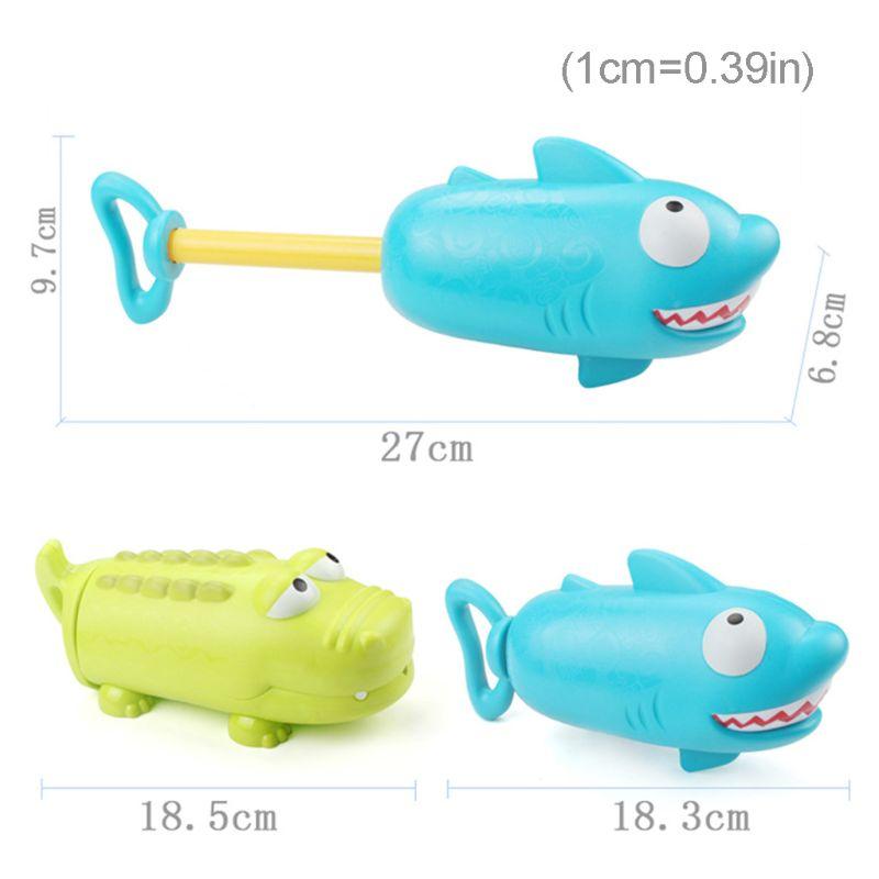 2pcs Shark Crocodile Shape Summer Water Squirt Toys Sprayer Blaster Outdoor Game C90B