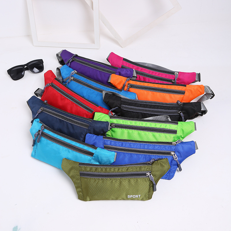 Outdoor Running Sports Waist Pack Waterproof Multi-functional Mountain Climbing Travel Bag Fashionable Ultra-Thin Bag