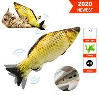 1 pçs realista de pelúcia brinquedo de peixe em movimento elétrico para gato interativo gato mastigar mordida brinquedos para gatinho gatinho peixe flop gato balançando brinquedos|Brinquedos gatos| |  -