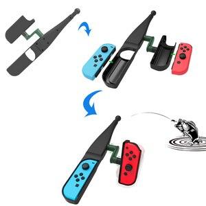 Image 5 - Bevigac przenośne poruszać się Sebse wędka ryby polak Prop dla Nintendo Nintend przełącznik Joy Con sterownik konsoli akcesoria do gier