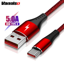 Vanniso USB Type C Cable 5A Fast charging Data Line For Xiaomi mi9 Redmi note7 Mobile Phone Charger cable for Huawei p30p20