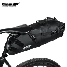 RHINOWALK Bicycle Bag Waterproof Tail Black Nylon Mountain Bike Mountaineering Travel Kit Accessories