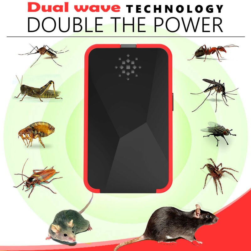 1pc New Electronic Ultrasonic Pest Reject Repeller Bug Mice Rat Spider Roach Killer